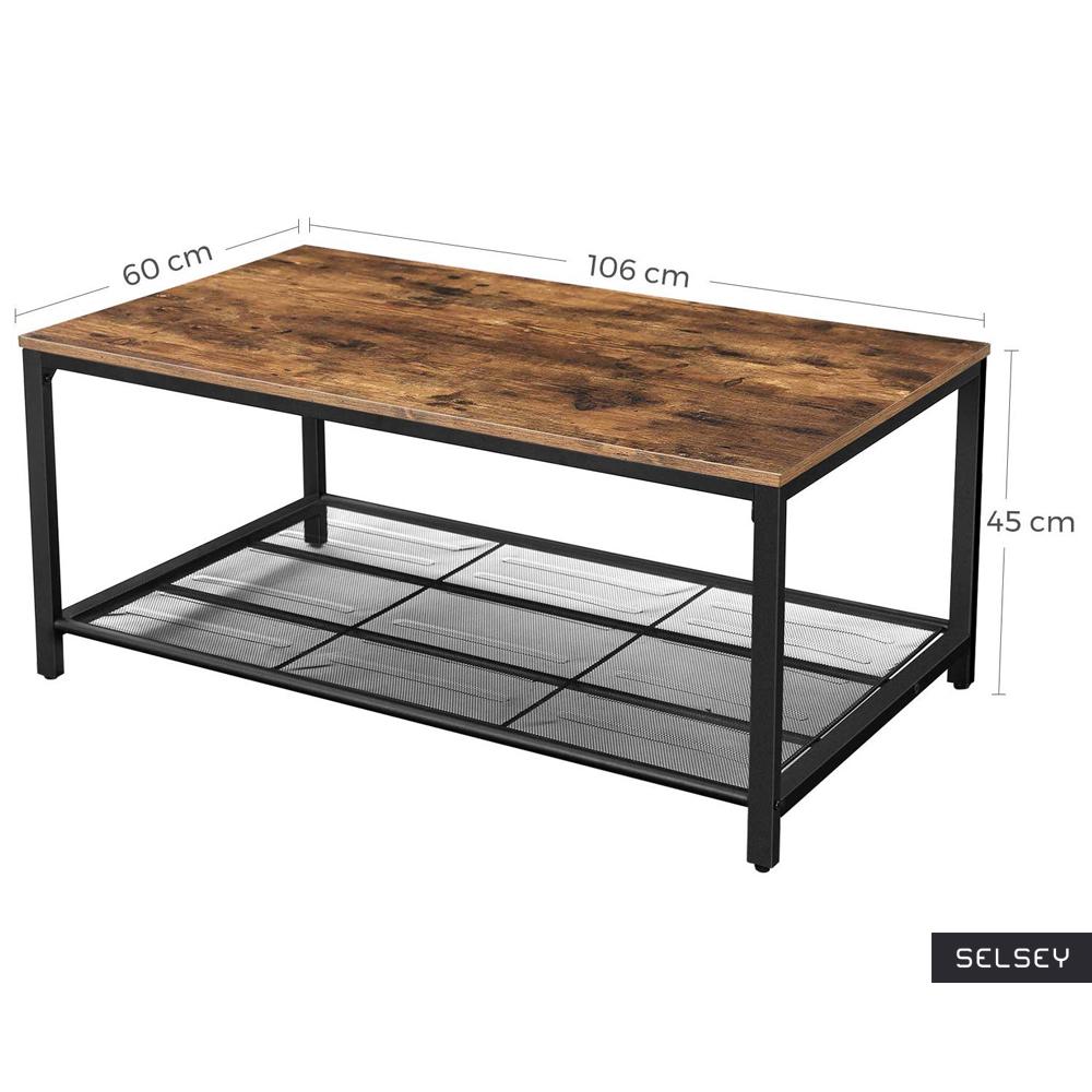 RAMIZU Table basse industrielle 7x7 cm