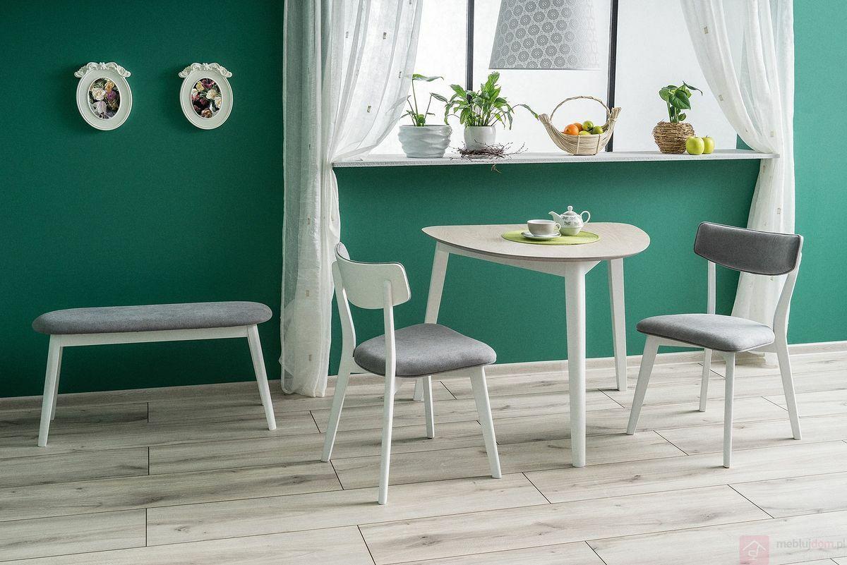 NYLAR Chaise cuisine gris / blanc
