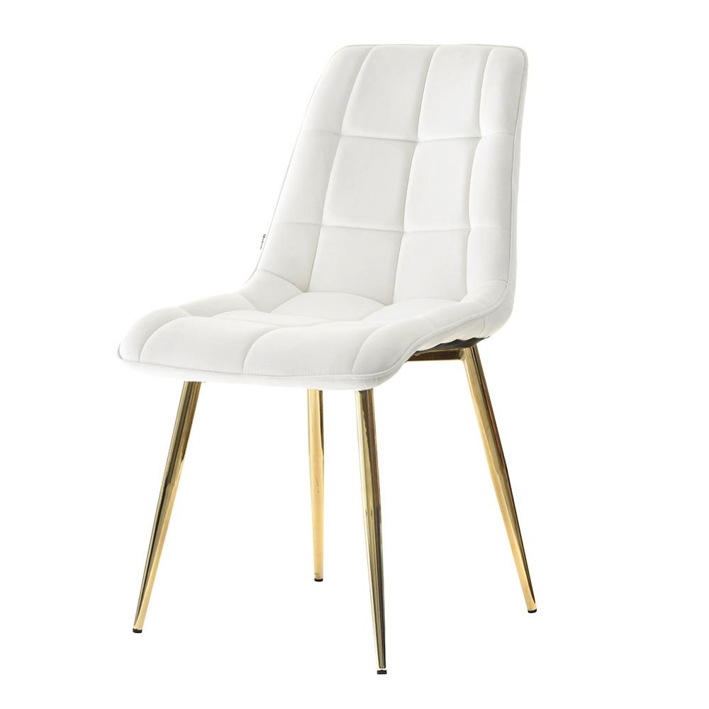 Sarcelle Olsen Pieds Chaise Blanc Cuivrés Matelassée xCoWrdeB