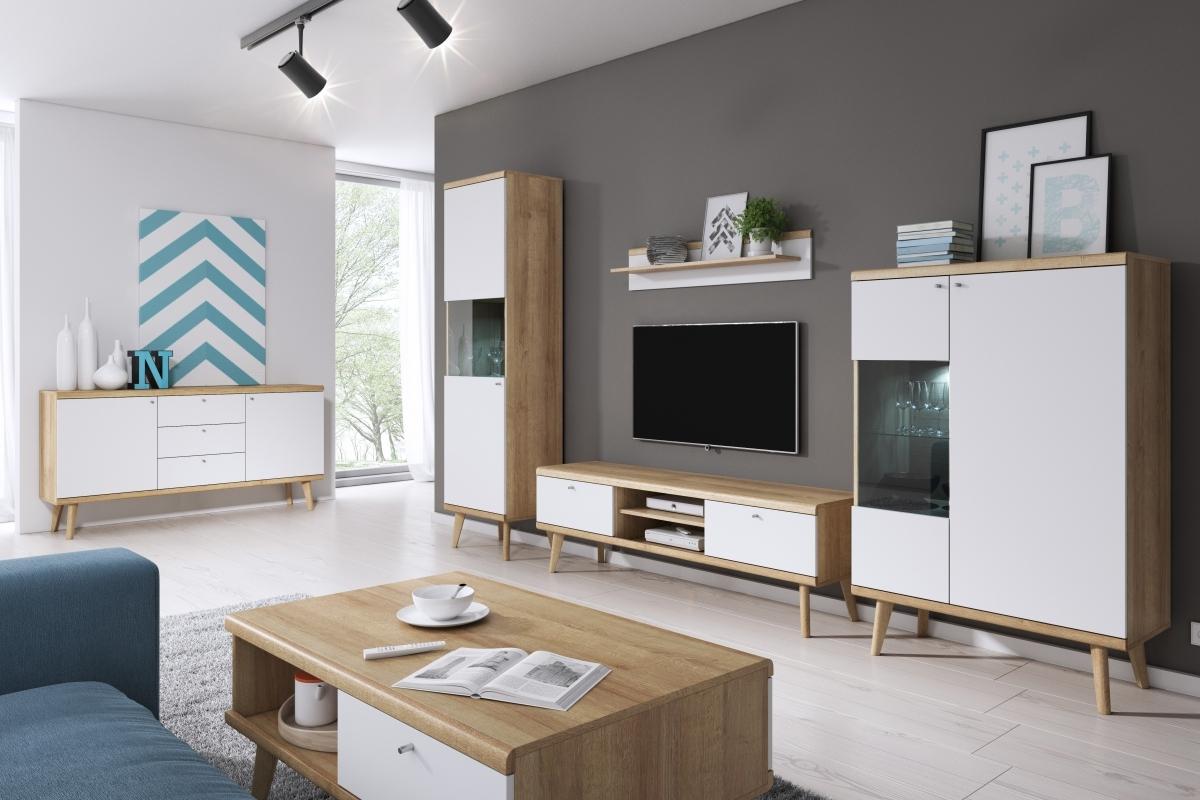 Panneau Mural Derriere Tv scandi meuble tv mural complet
