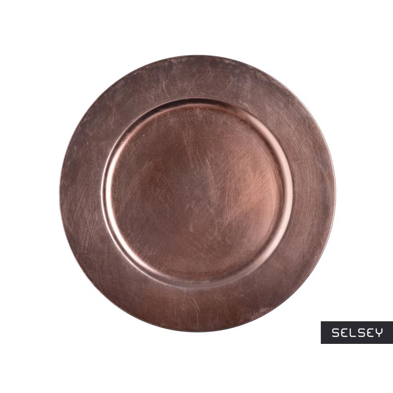 Assiette de présentation cuivre 33 cm