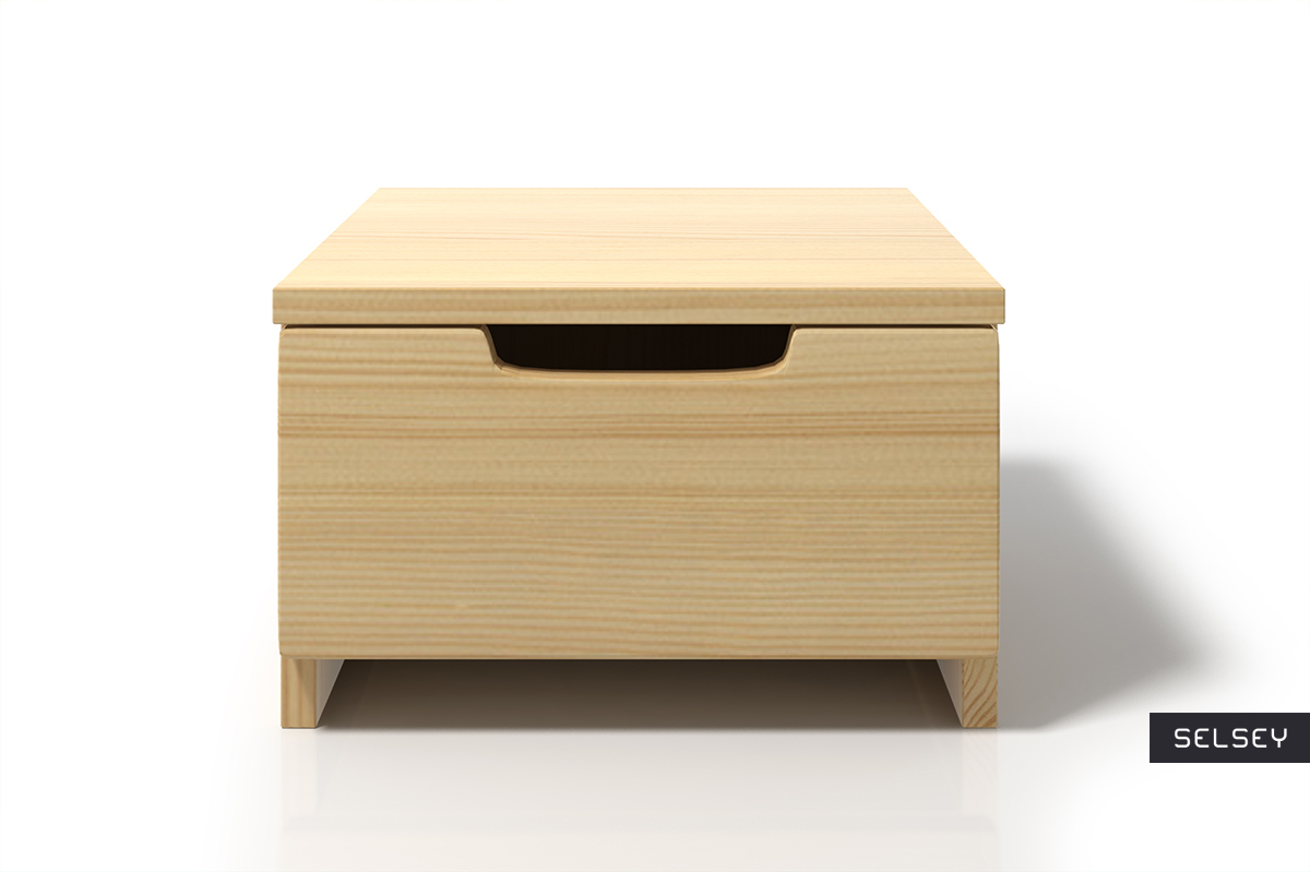 Petite Table De Nuit Bois halsa petite table de chevet en bois de pin