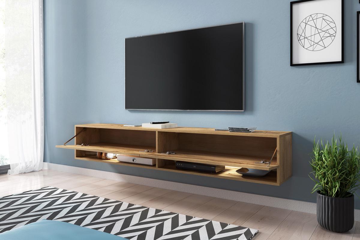 Panneau Mural Derriere Tv wander meuble tv suspendu 180 cm - selsey