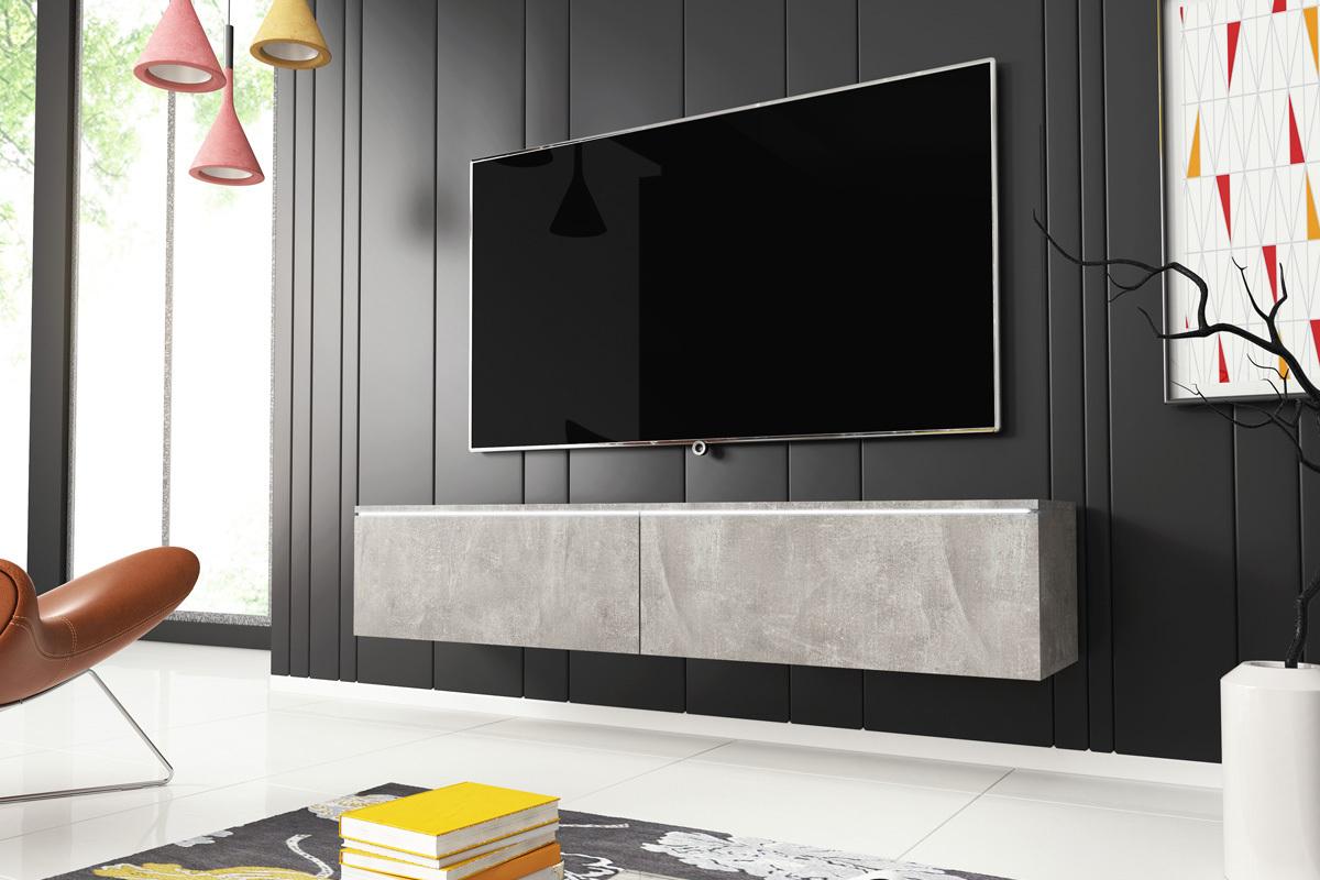 Meuble Tv Angle Suspendu kane meuble tv suspendu 140 cm