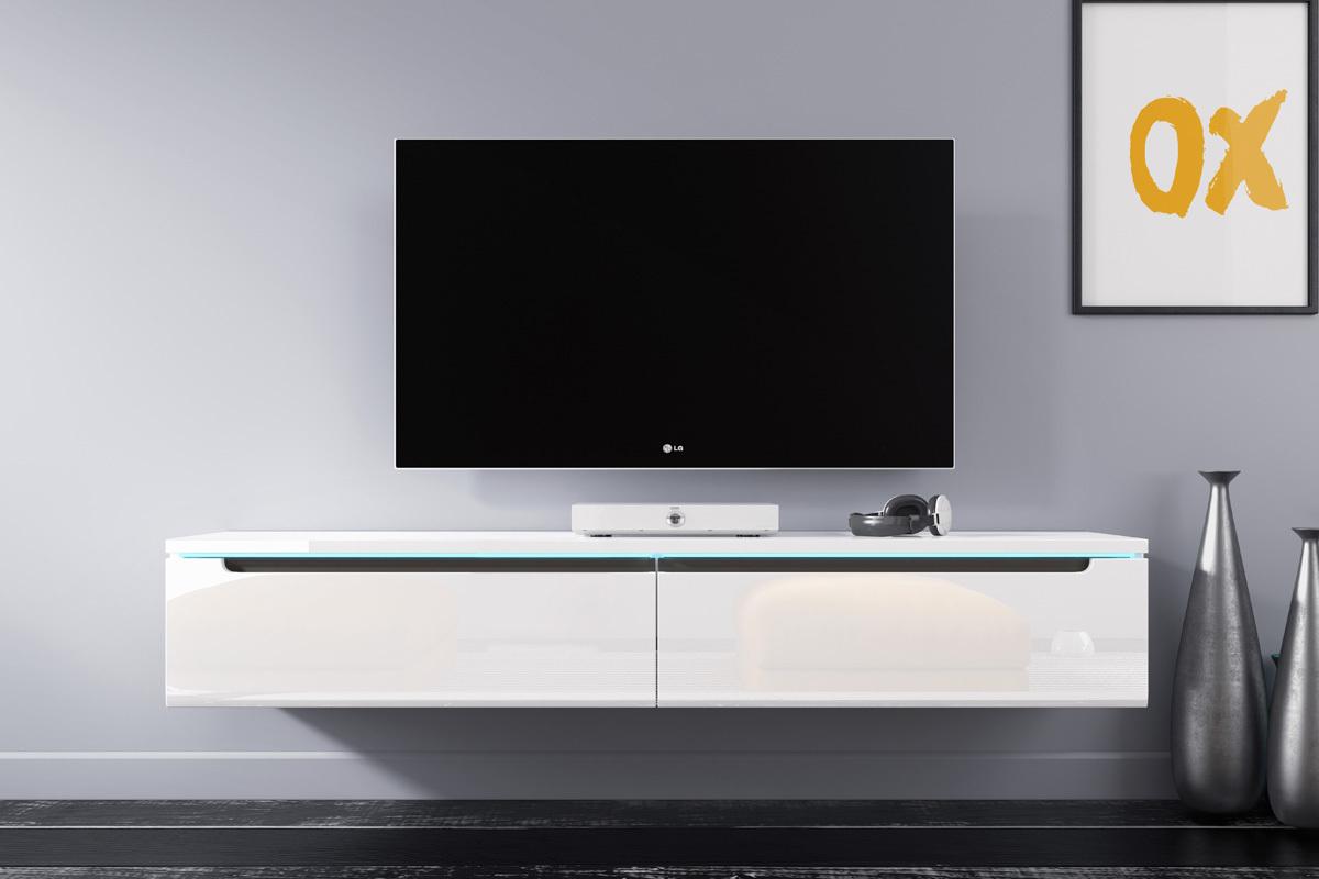 Quelle Hauteur Meuble Tv swift meuble tv led 140 cm