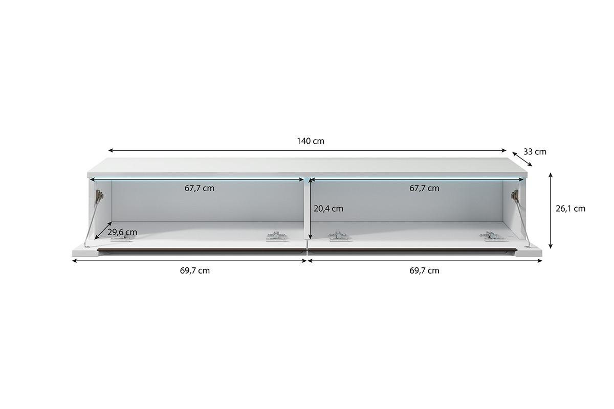 Hauteur Meuble Tele swift meuble tv led 140 cm