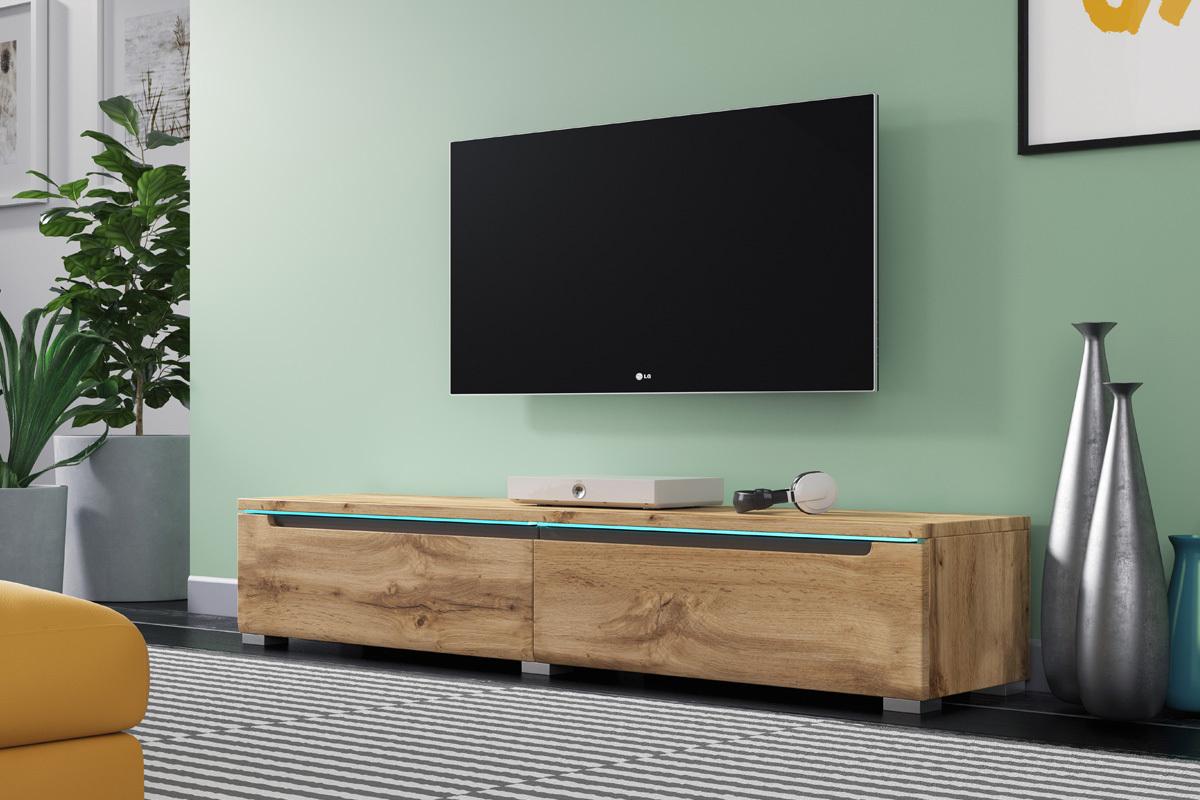 Meuble Tv Grande Taille swift meuble tv led 140 cm