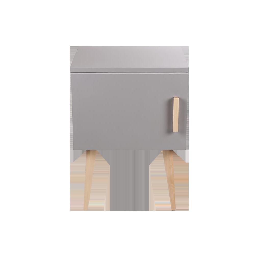 TOSCANE Table de chevet scandinave grise