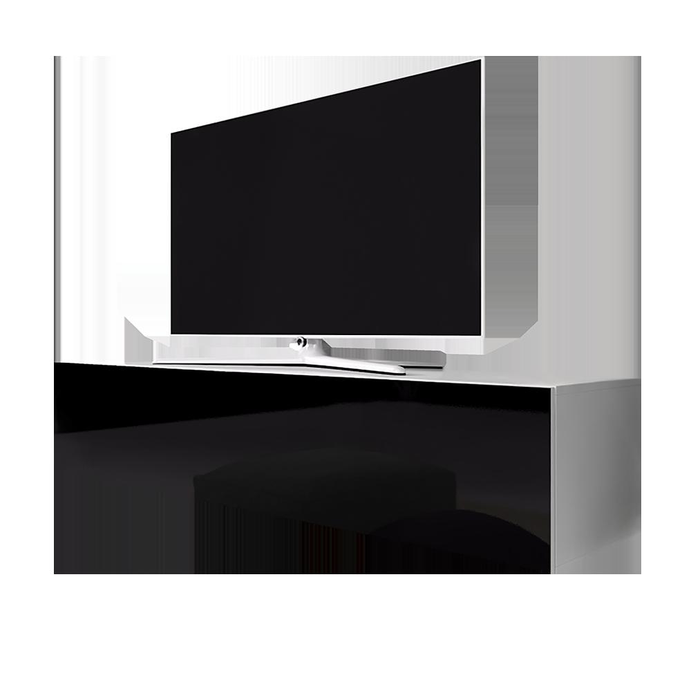 SKYLARA Meuble TV suspendu avec LED