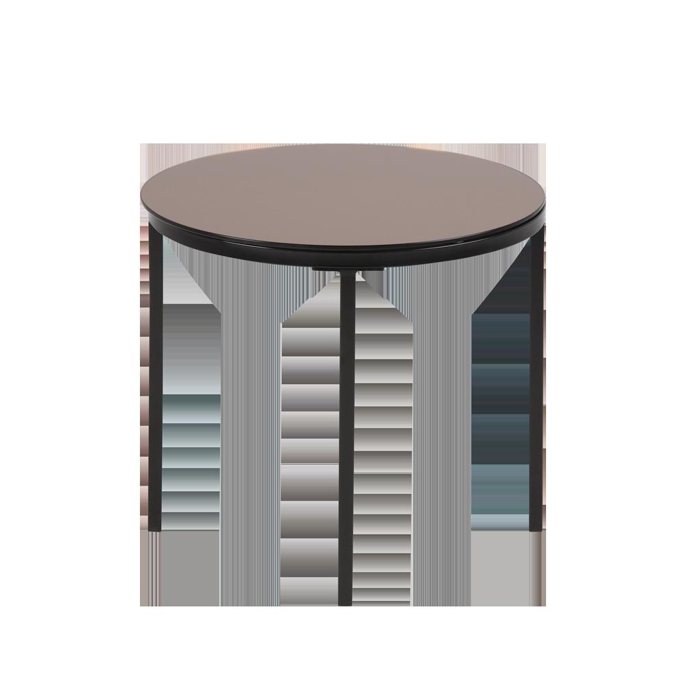 TISTON Table basse Ø 50 cm plateau en verre