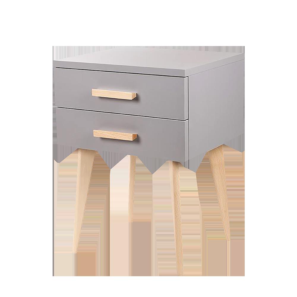 SARDAIGNE Table de chevet scandinave grise