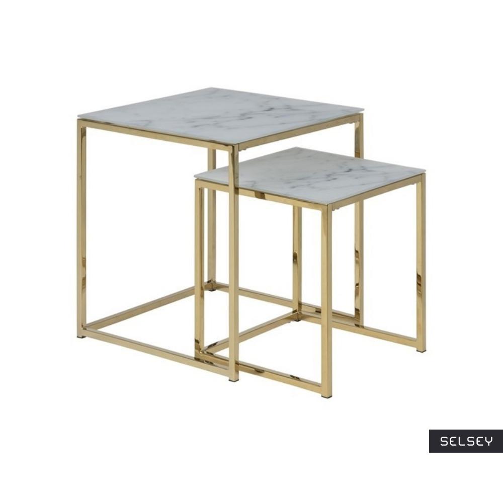 ALISMA Tables gigognes 50x45 cm et 40x35 cm