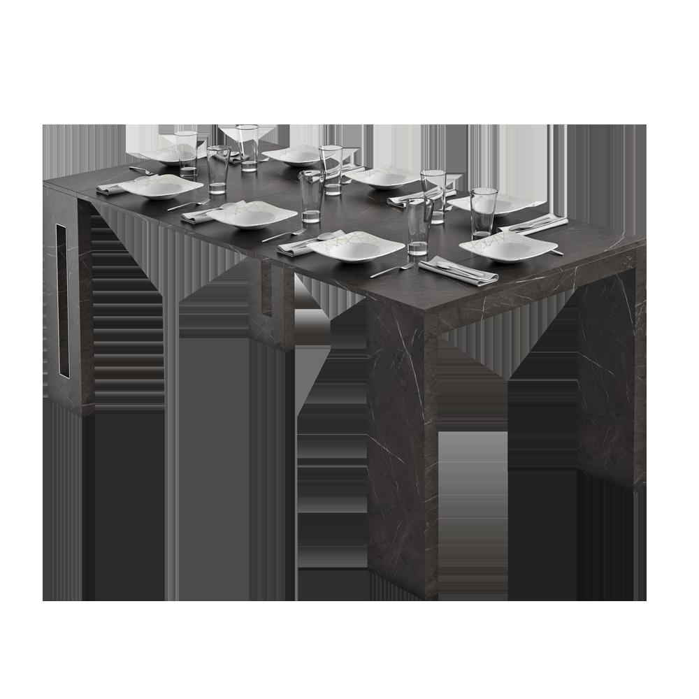 ROMANSIA Table extensible italienne marbre noir