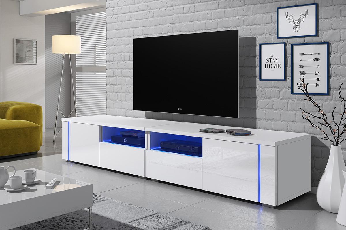 Meuble Tv Grande Taille oxy double meuble tv led 2x100 cm
