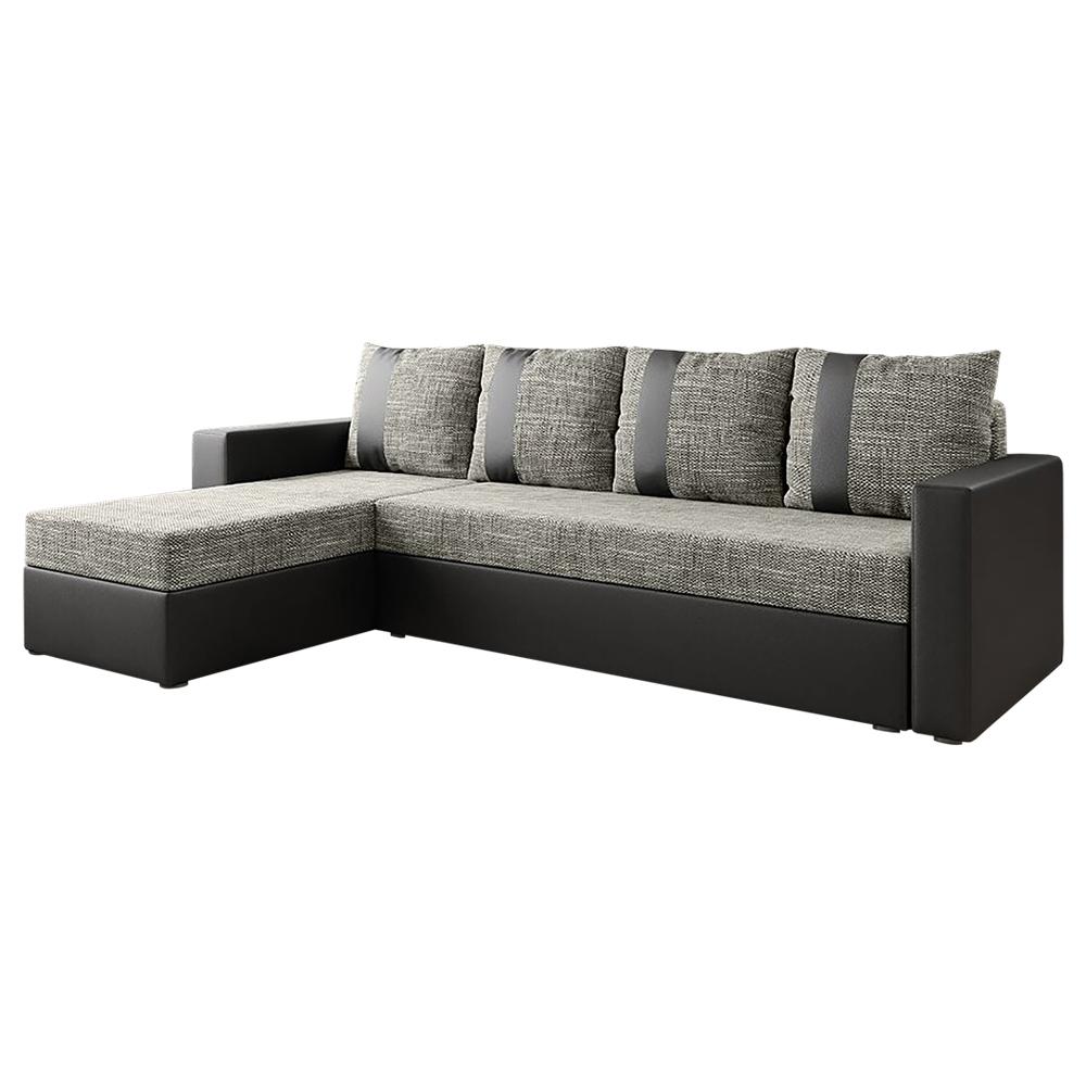CURCUMA Canapé d'angle fonction de lit brun clair