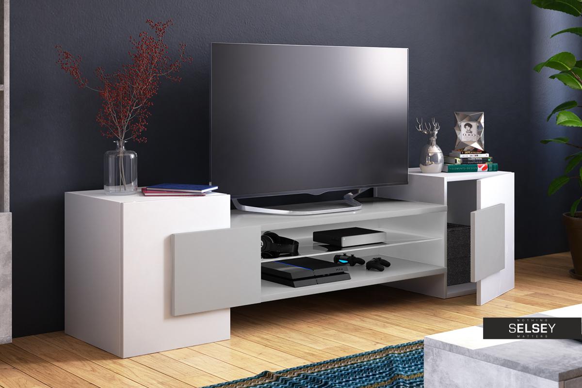 Meuble Tv Angle Suspendu gaelin meuble tv 160 cm moderne - selsey