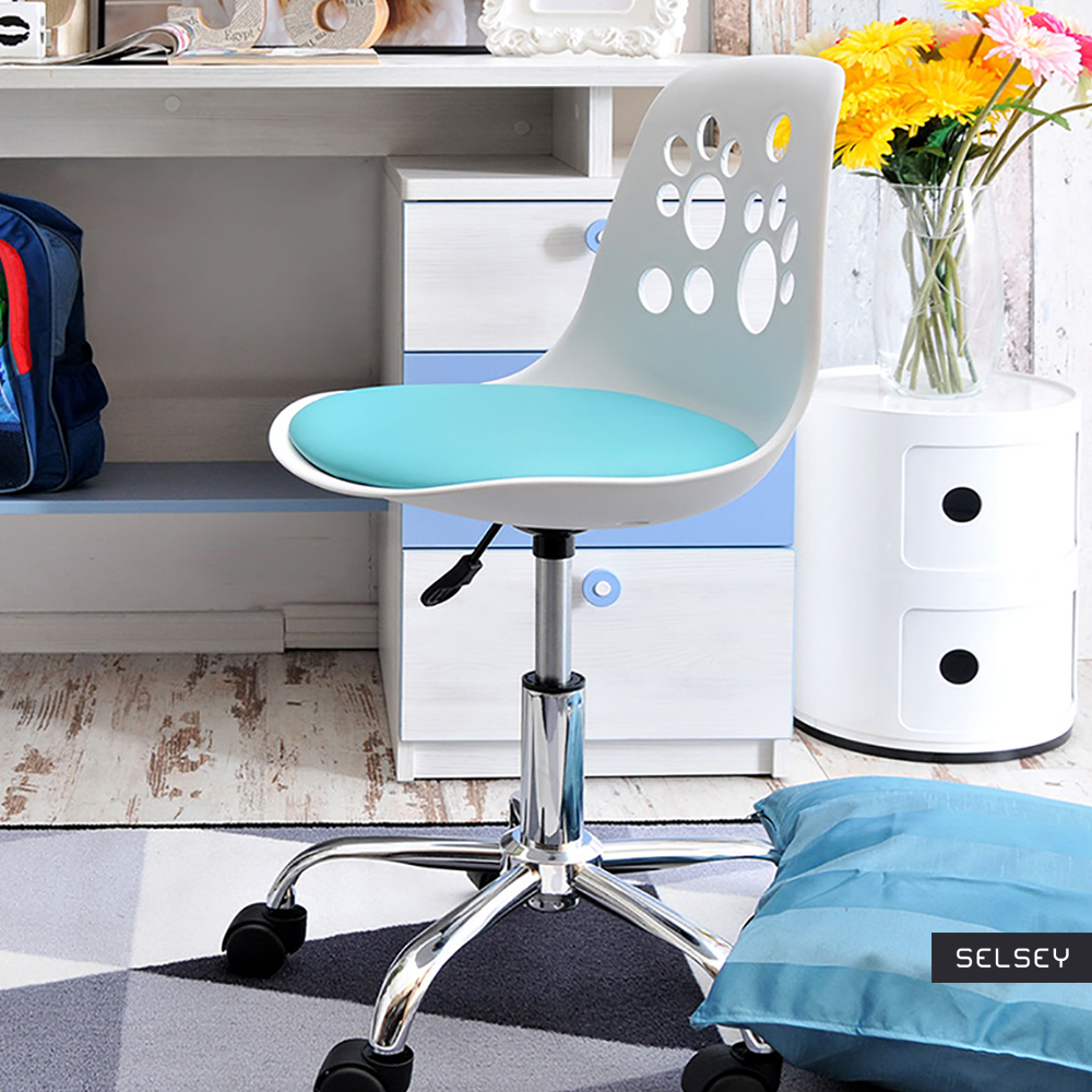 Fauteuil d'enfant Chaise de bureau FOOT 40 cm blanc