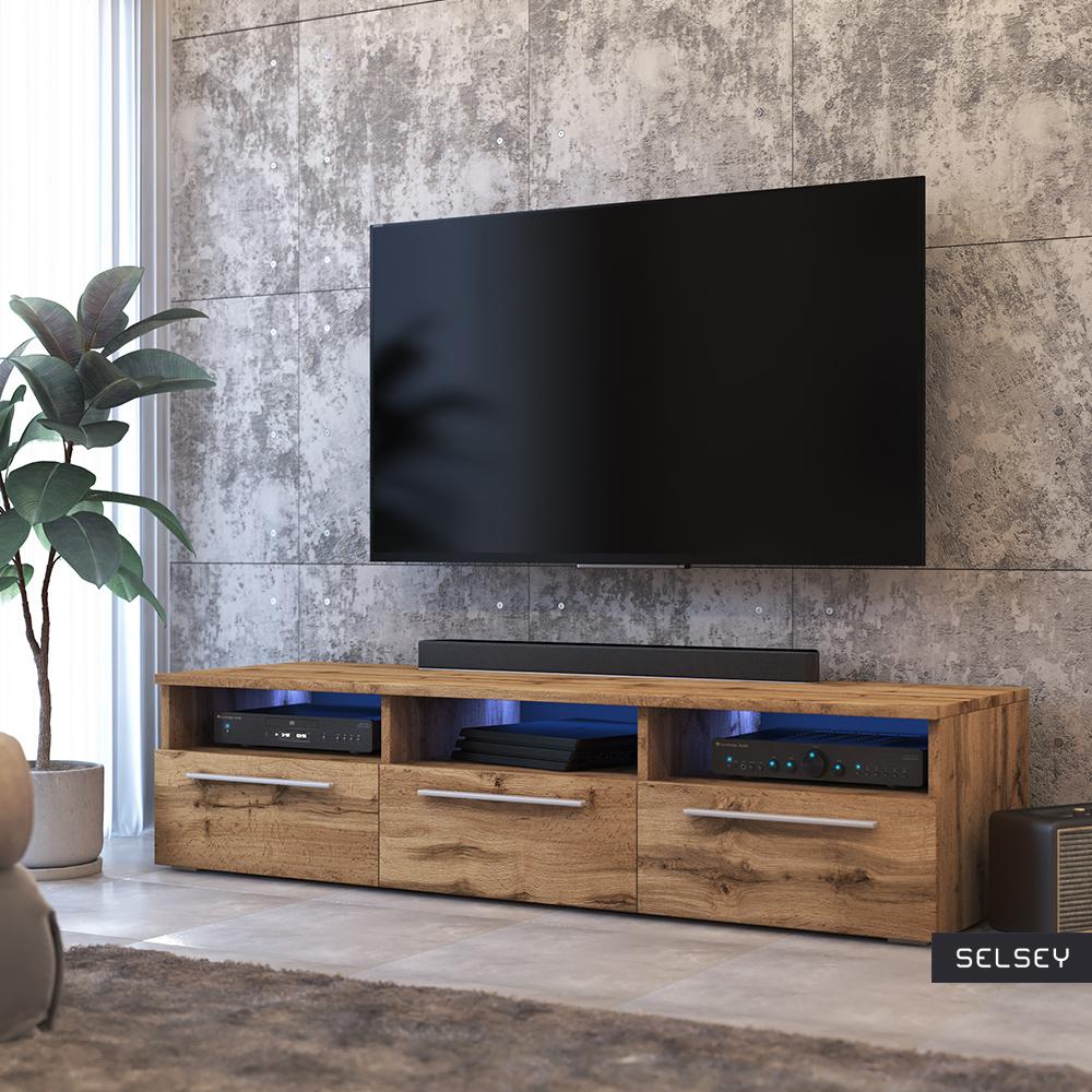 Meuble Tv Grande Taille lavello meuble tv led style moderne
