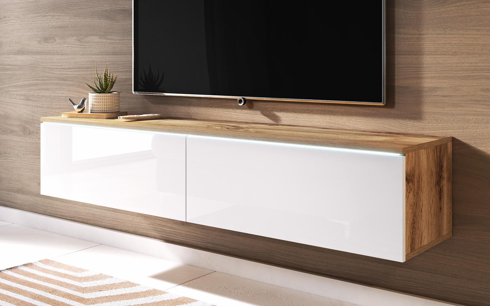 kane meuble tv suspendu 140 cm selsey