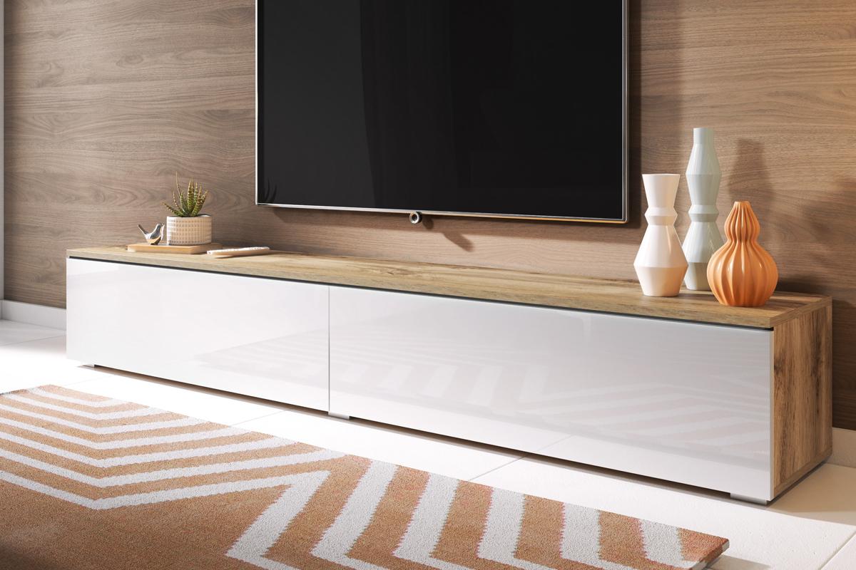 Tele Salle De Bain kane meuble tv suspendu 180 cm
