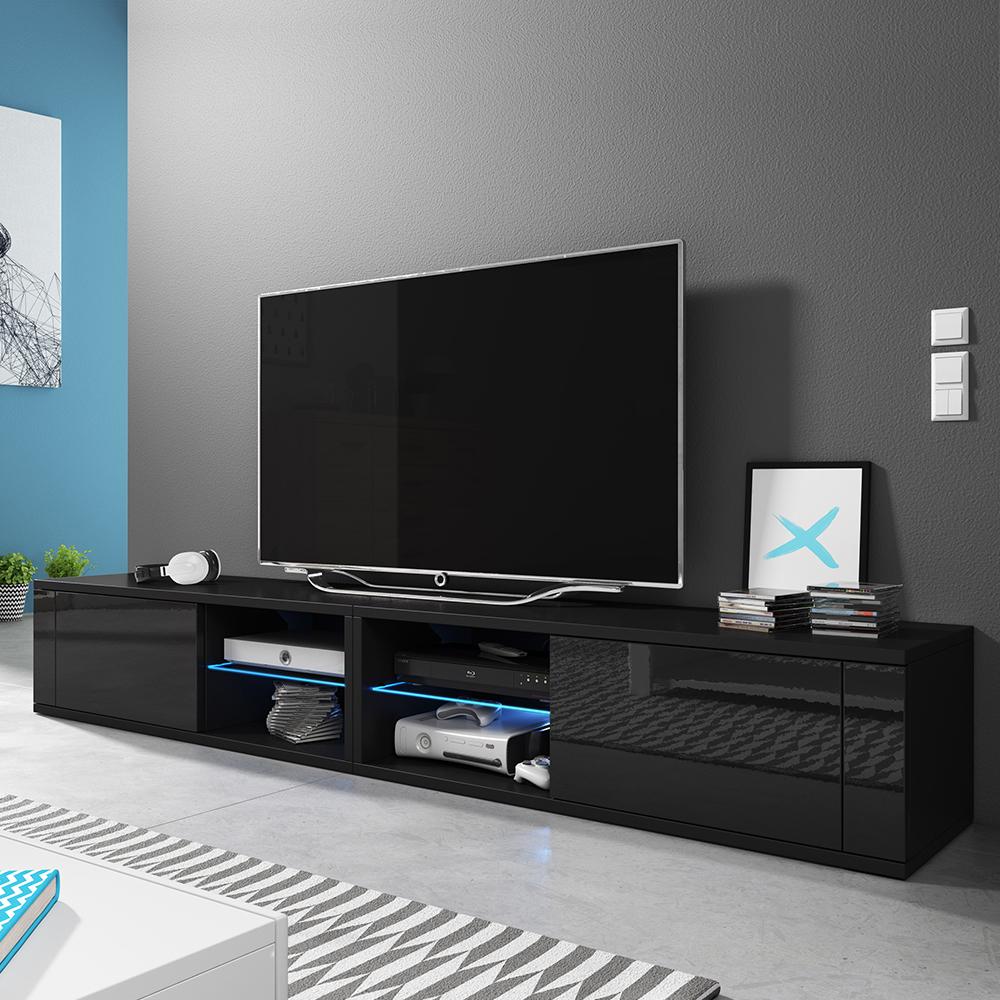 Meuble Tv Grande Taille ÉlÉgant double meuble tv 2x100 cm - selsey