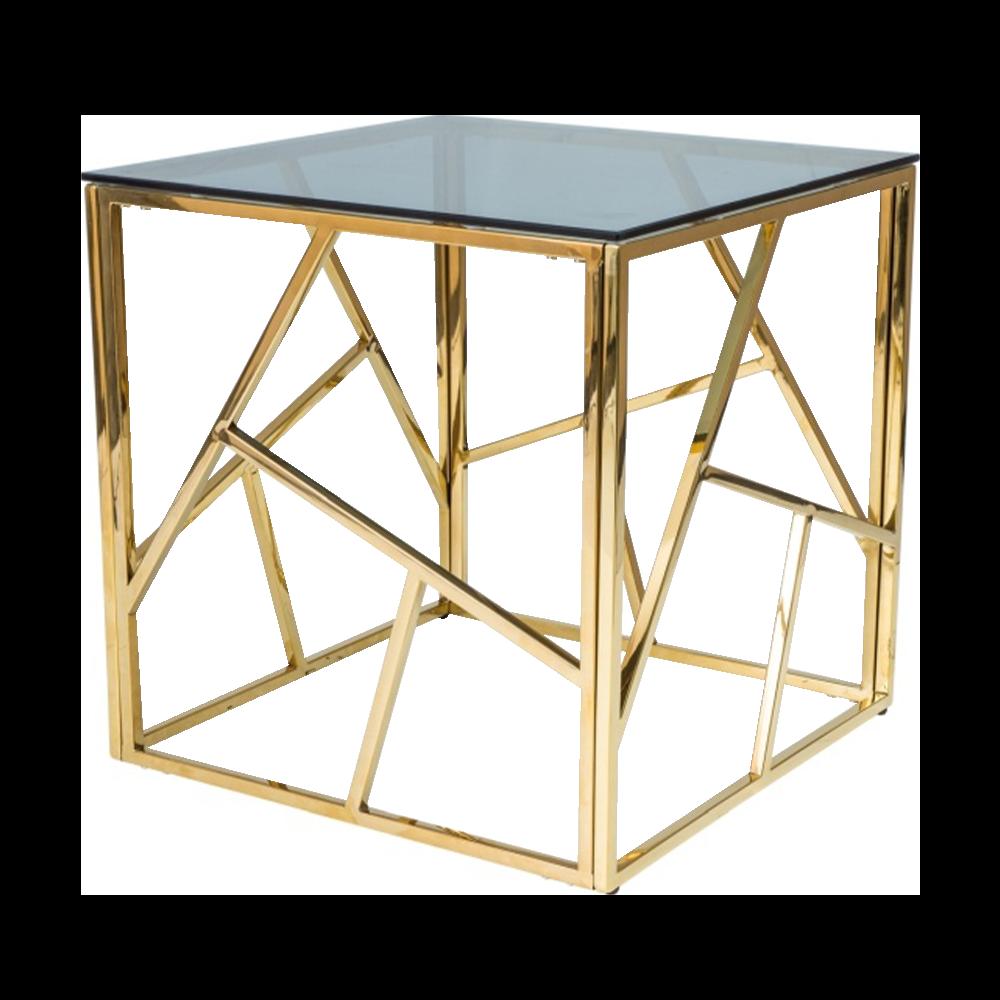 VOGAR Table basse glamour 55x55 cm doré