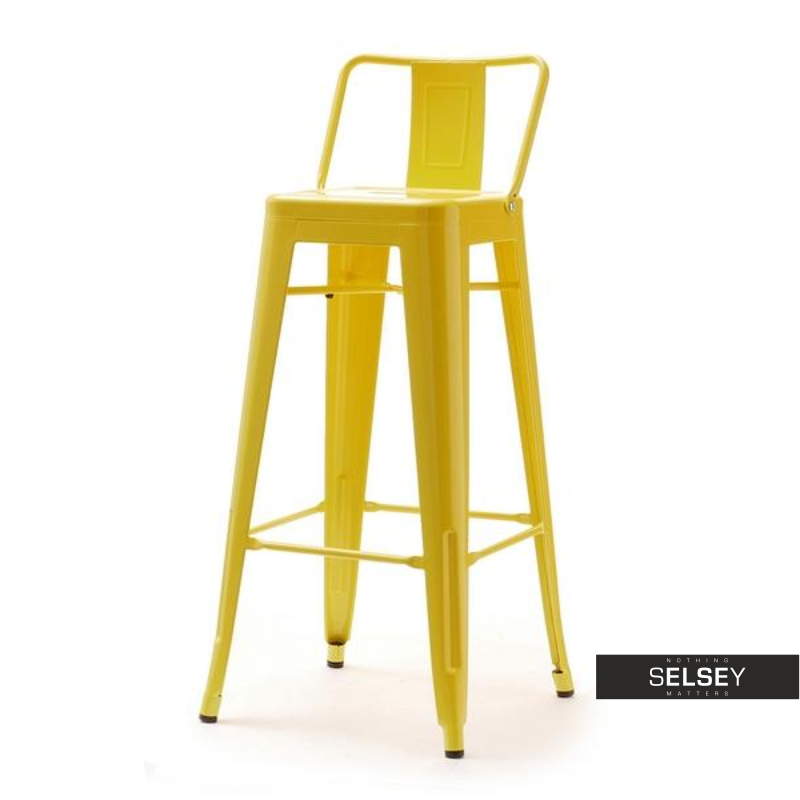 ALFREDO STOOL 1 Tabouret de bar en métal jaune
