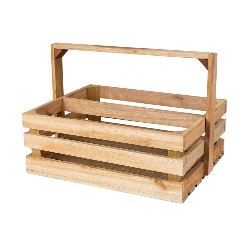 LUCYPIO Caisse en bois avec anse 2 compartiments