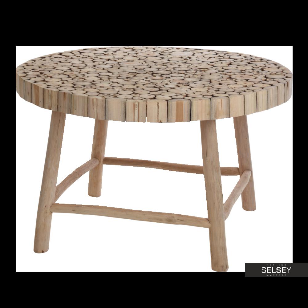 TEAK Table basse jardin Ø 75 cm