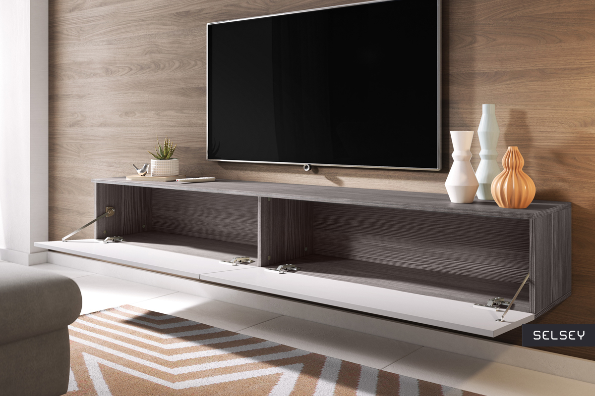 Meuble Tv Angle Suspendu kane meuble tv suspendu 180 cm