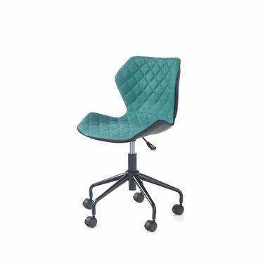 CALL Chaise de bureau enfant noir / turquoise