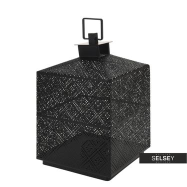 Lanterne métal noir 21 cm