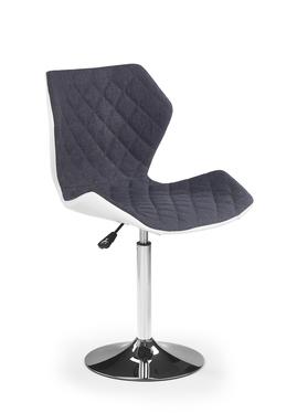 FORINT 2 Chaise de bureau enfant blanc / gris argenté