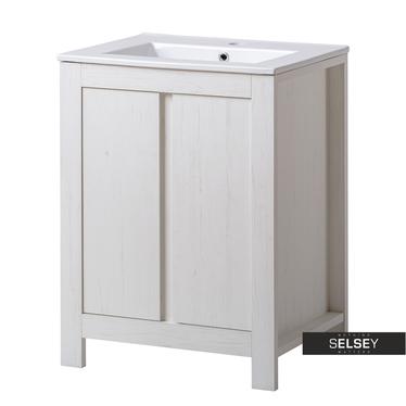 FRANCISCO Meuble sous lavabo effet chêne blanchi 60 cm