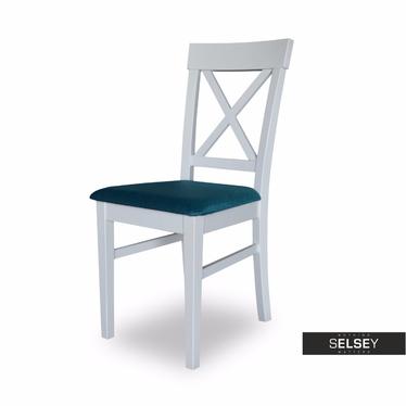GAYA Chaise en bois avec assise tapissée