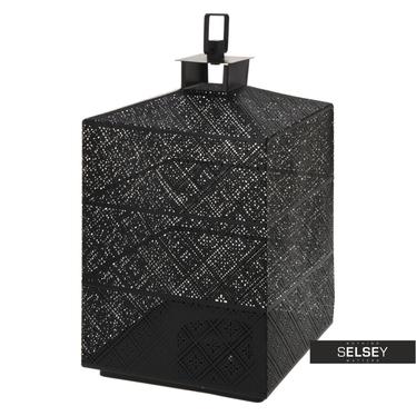 Lanterne métal noir 31 cm