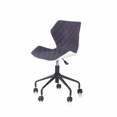 CALL Chaise de bureau enfant blanc / gris argenté