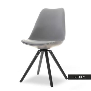 LOUIS Chaise pivotante gris / noir
