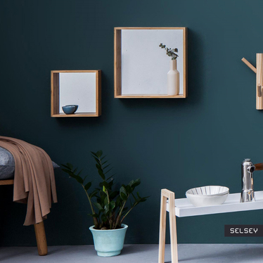 ANICOTTI Miroir avec étagère 26x26 cm