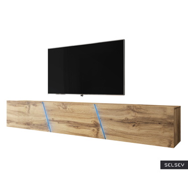 ALAMARA Meuble TV LED 240 cm