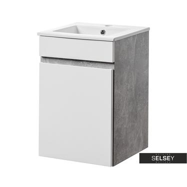 PUEBLA Meuble sous lavabo 1 porte 40 cm