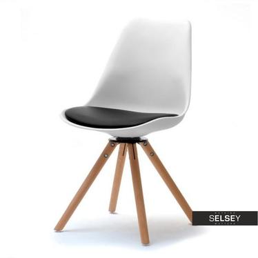 LUIS ROT Chaise pivotante noir / blanc