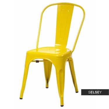 PARIS Chaise en métal jaune