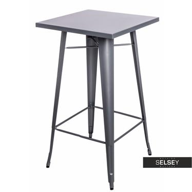 PARIS Table de bar grise 60x60 cm