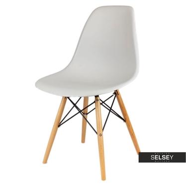 BASIC Chaise scandinave gris clair pieds hêtre