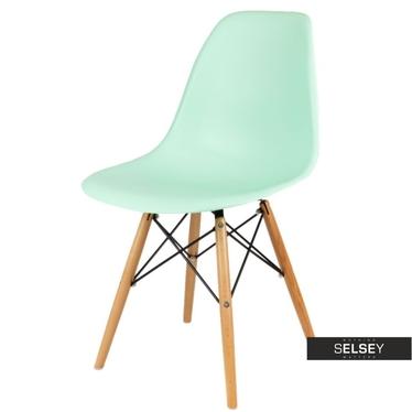 BASIC Chaise scandinave menthe pieds hêtre