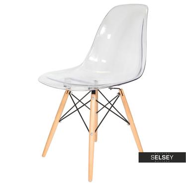 BASIC Chaise scandinave transparente pieds hêtre
