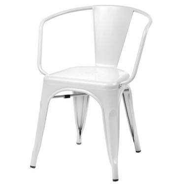 PARIS ARMS Chaise en métal blanche