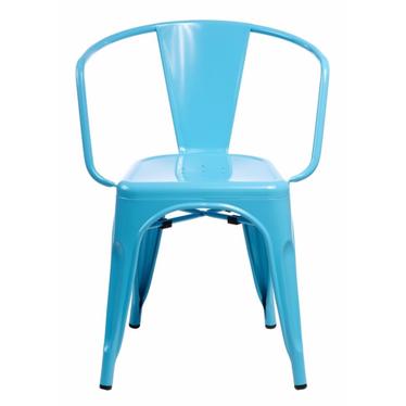 PARIS ARMS Chaise en métal bleue