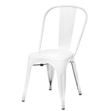 PARIS Chaise en métal blanche